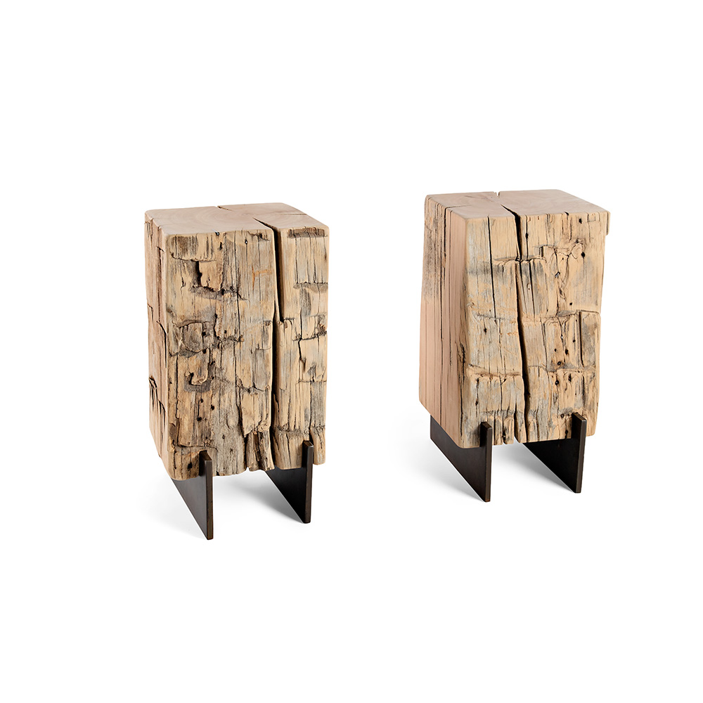 Vertical Beam Side Table