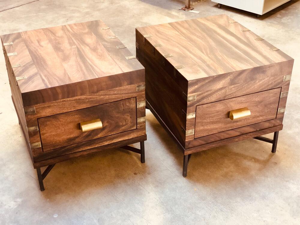 custom woodwork side tables